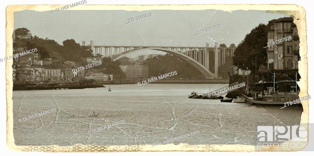 Imagen: Arrábida Bridge over Douro river, Porto, Portugal.