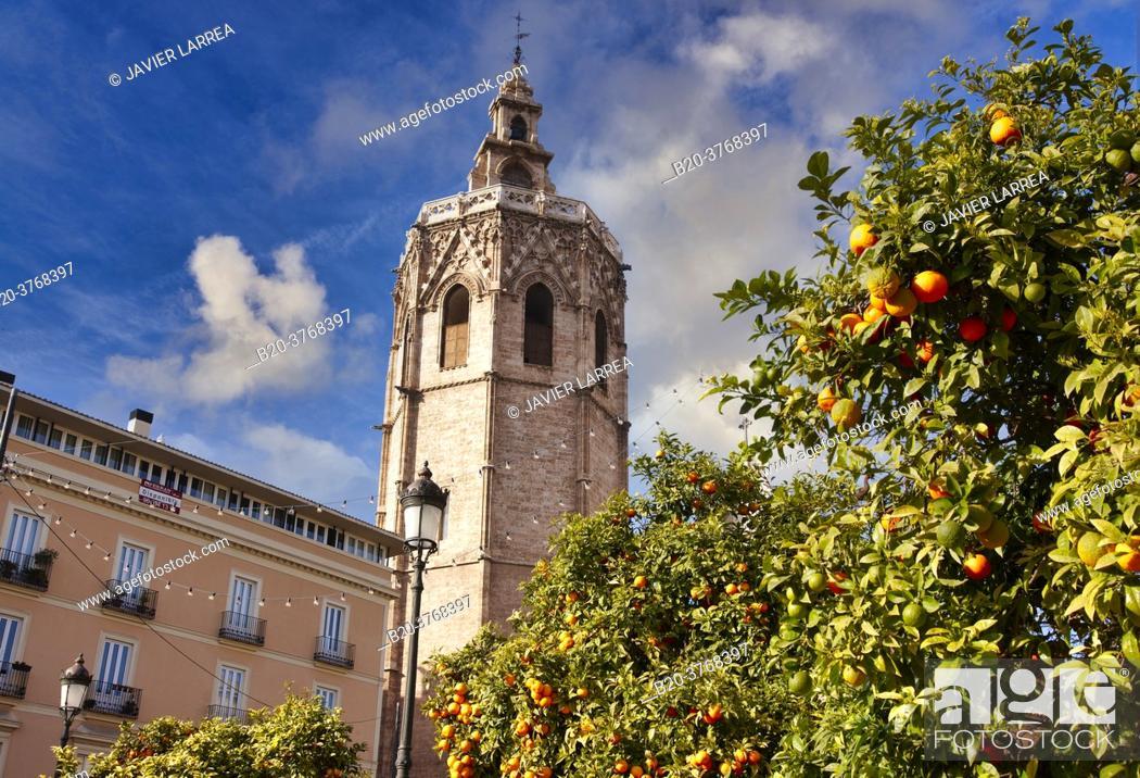 Imagen: Torre del Miquelete, Plaza de la reina, Valencia, Comunidad Valenciana, España.