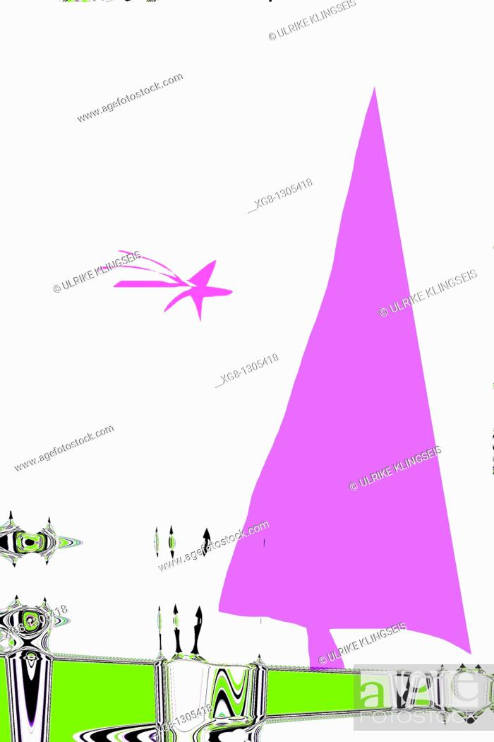 Stock Photo: christmas abstract, inspiration, eccentric, strangeness, future.