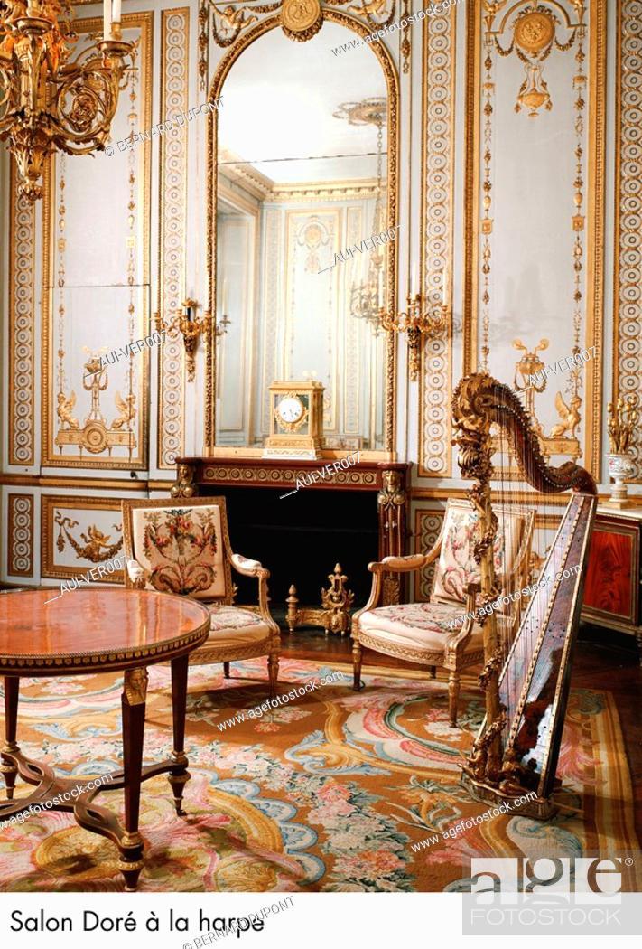 Stock Photo: Palace of Versailles - Salon Dore a la harpe.
