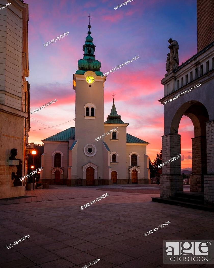 Stock Photo: Church in the main square of Ruzomberok, Slovakia.