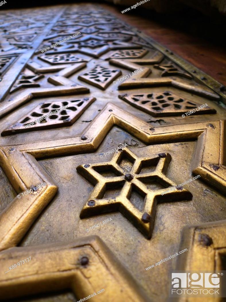 Stock Photo: Puerta. Madrasa Mausoleo Al Nasir Mohamed. El Cairo, Egipto.