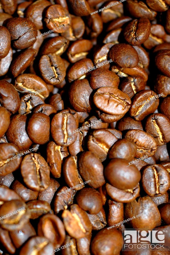 Stock Photo: Coffee beans close-up.