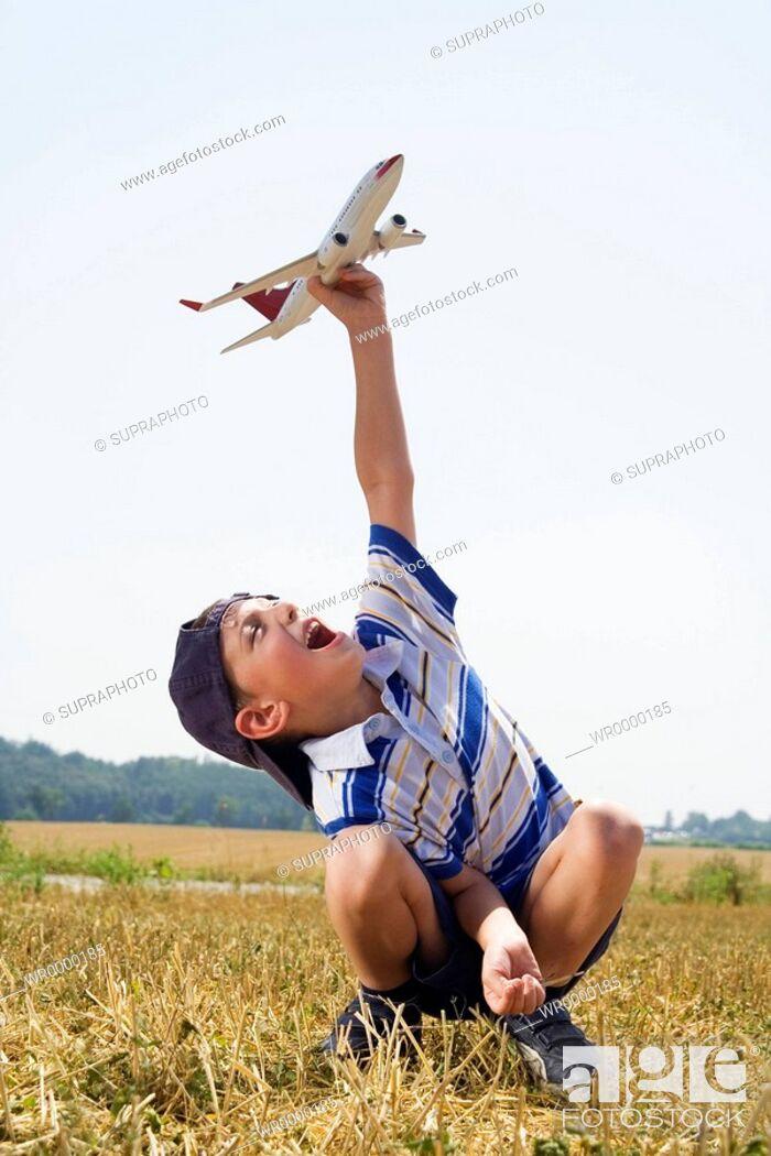 Stock Photo: Little boy plane.