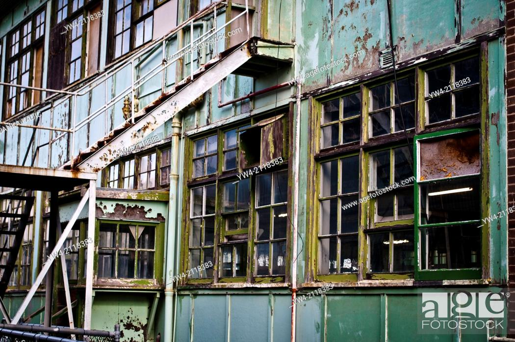 Stock Photo: Abandoned industrial building, Cockatoo Island, Sydney, Australia.