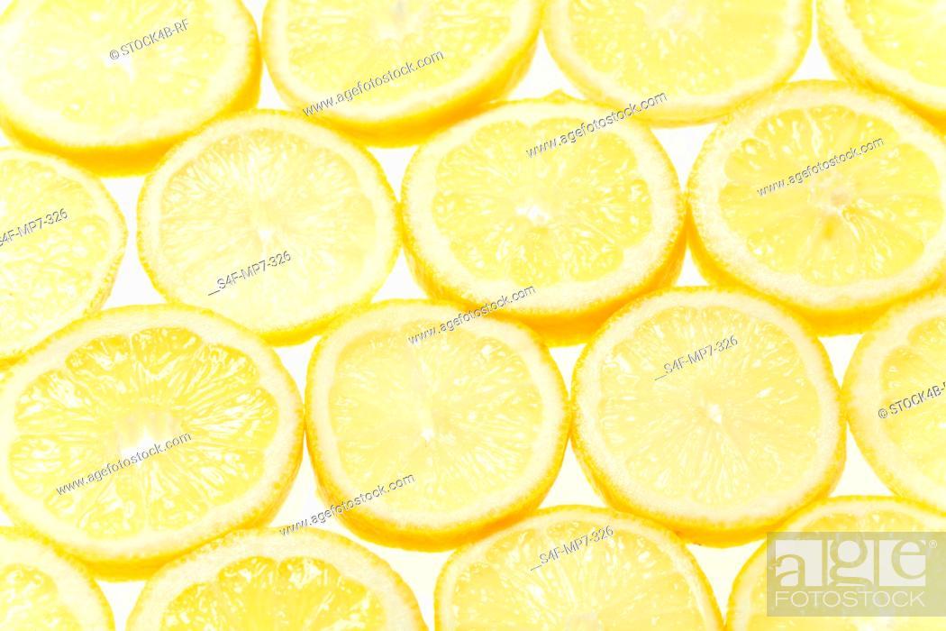 Stock Photo: Detail of lemon slices.