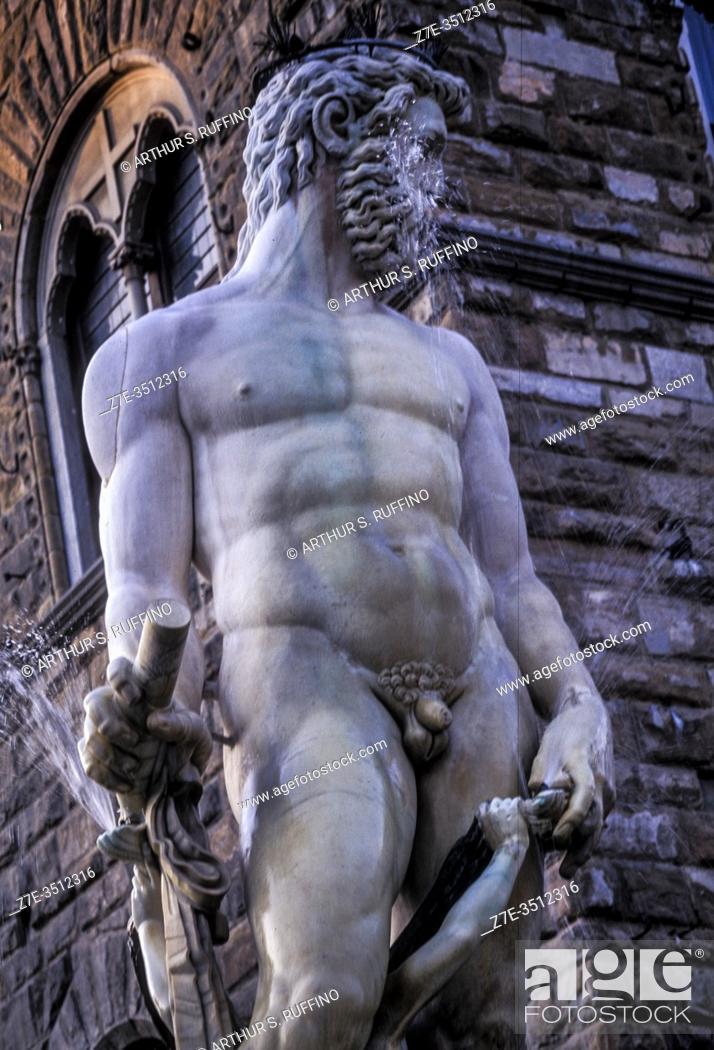 Imagen: Fountain of Neptune, Piazza della Signoria, Florence, Italy, Europe.