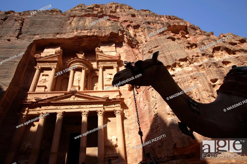 Stock Photo: Al Khazneh or Treasury, Petra, Jordan.
