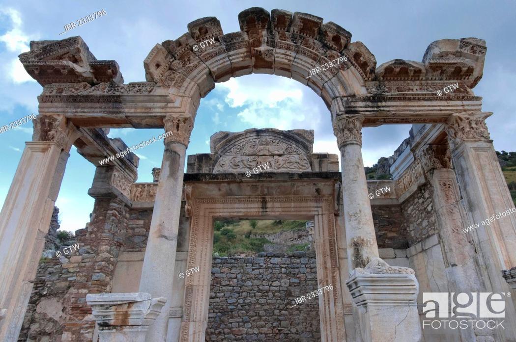 Stock Photo: Hadrian Temple, Ephesus, Izmir Province, Turkey.