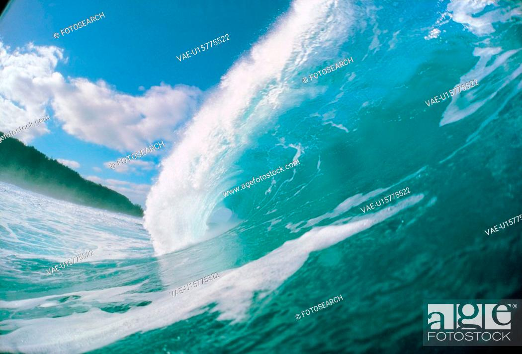 Stock Photo: scenery, clouds, scene, wave, natural, sky.