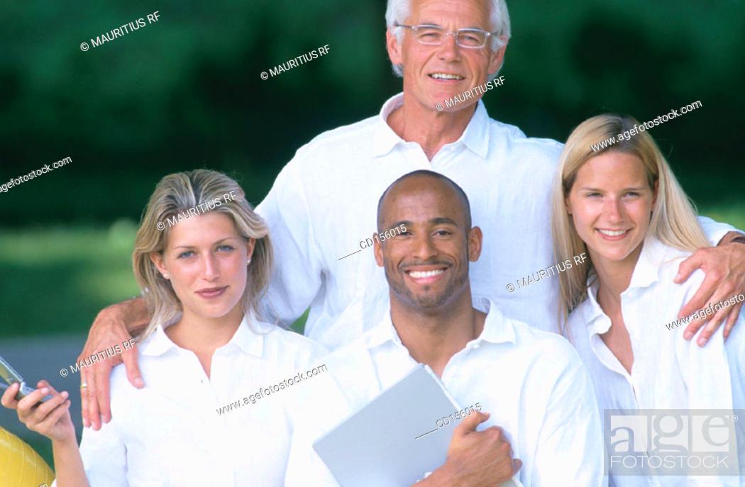 Stock Photo: Team work, Friendship, Together.