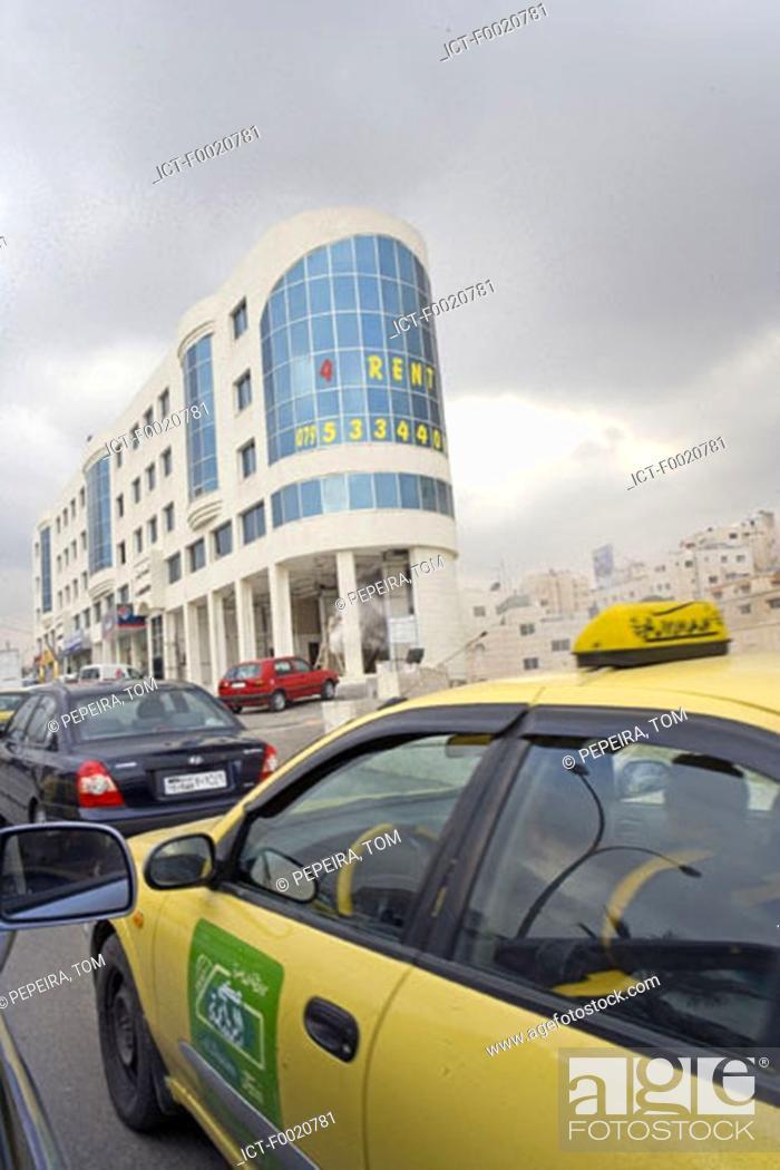 Stock Photo: Jordan, Amman, taxi.