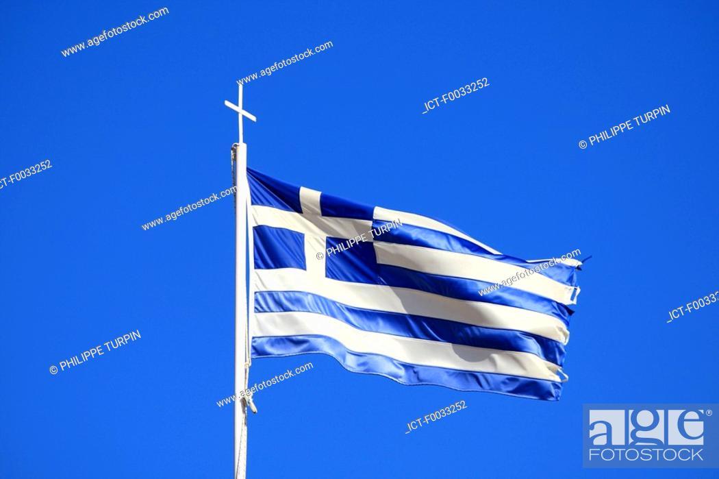 Stock Photo: Cyprus, greek flag.