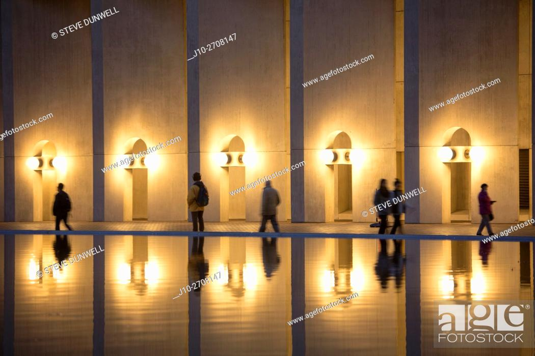 Stock Photo: Reflections at Christian Science plaza, Boston, MA, USA.