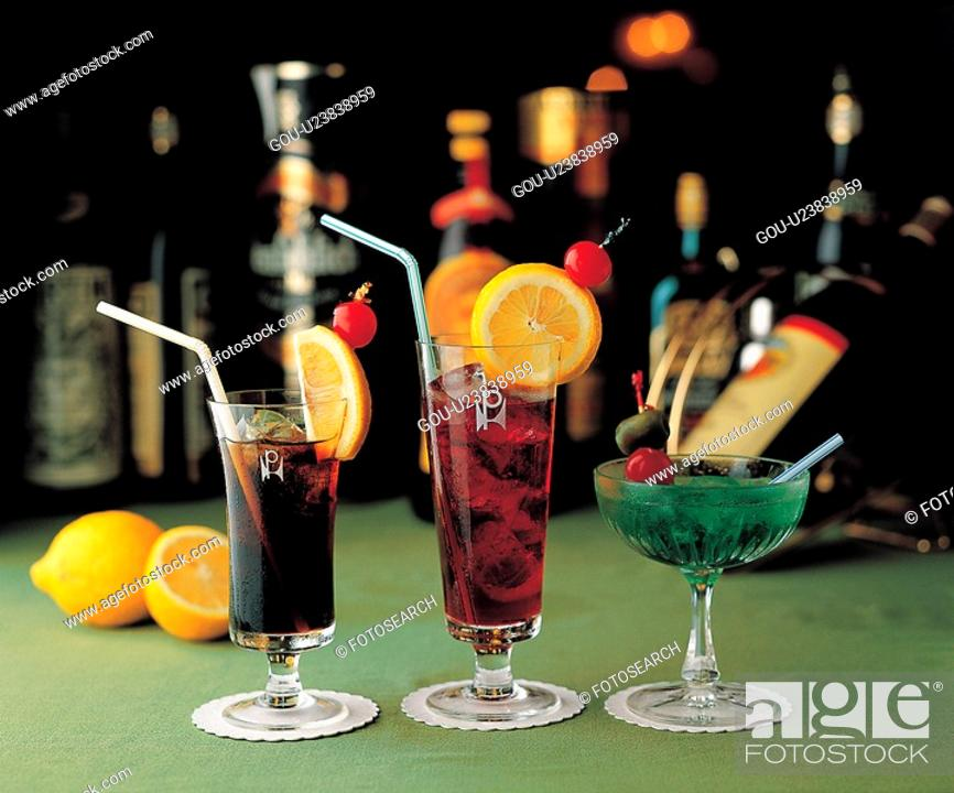 Stock Photo: alcoholic drink, food, beverage, alcoholic liquor, cuisine, cocktail, coke.