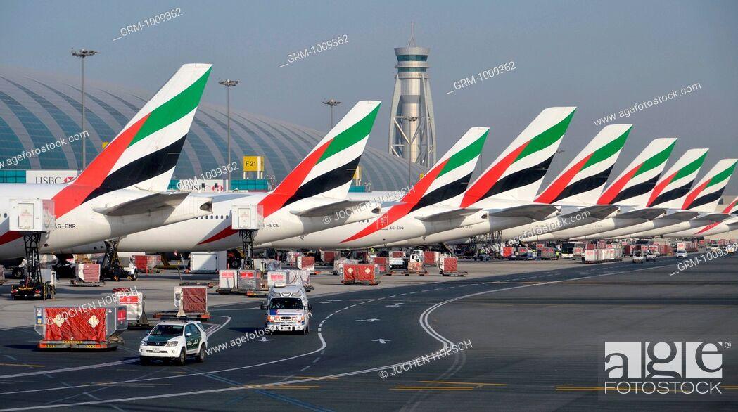 Stock Photo: Dubai International Airport in United Arab Emirates.