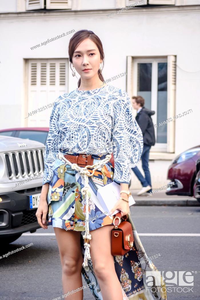 PARIS, FRANCE - February 28: Jessica Jung, outside Chloe