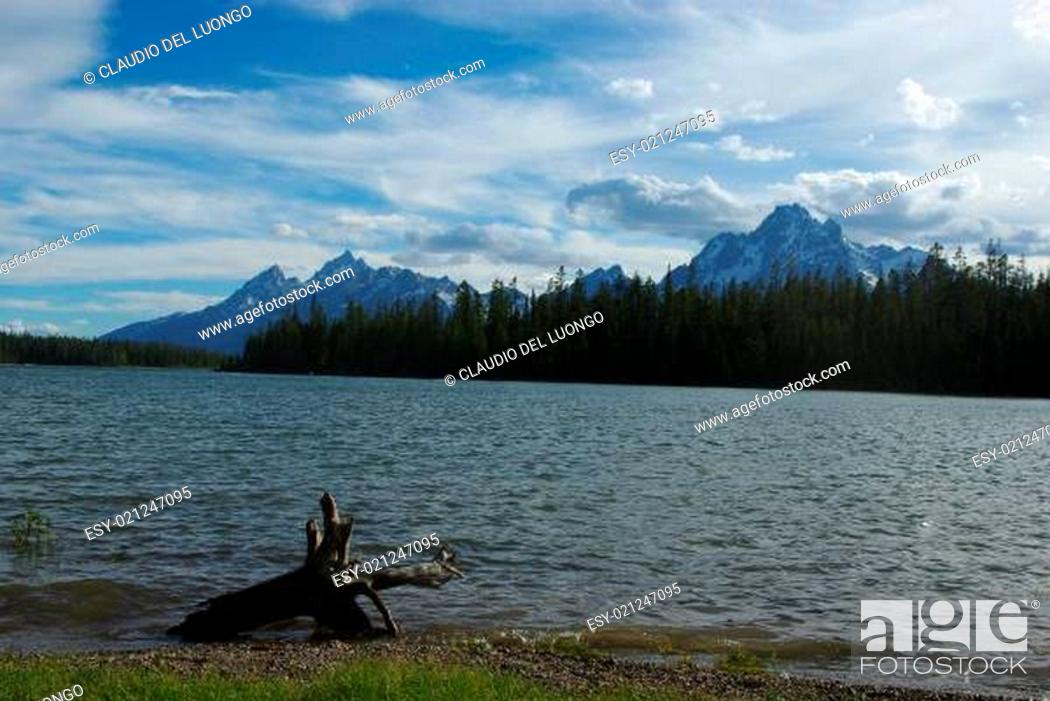 Stock Photo: One of many lakes in Grand Teton National Park, Wyoming.