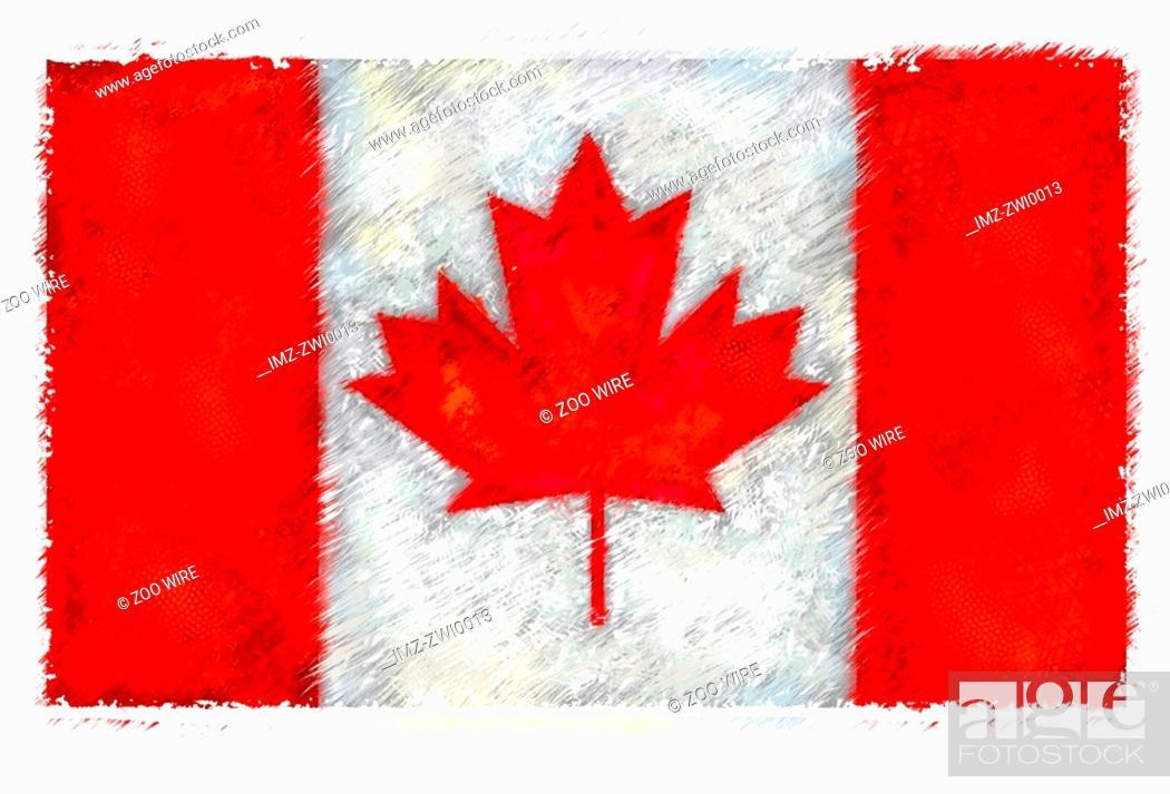 Stock Photo: Flag of Canada.