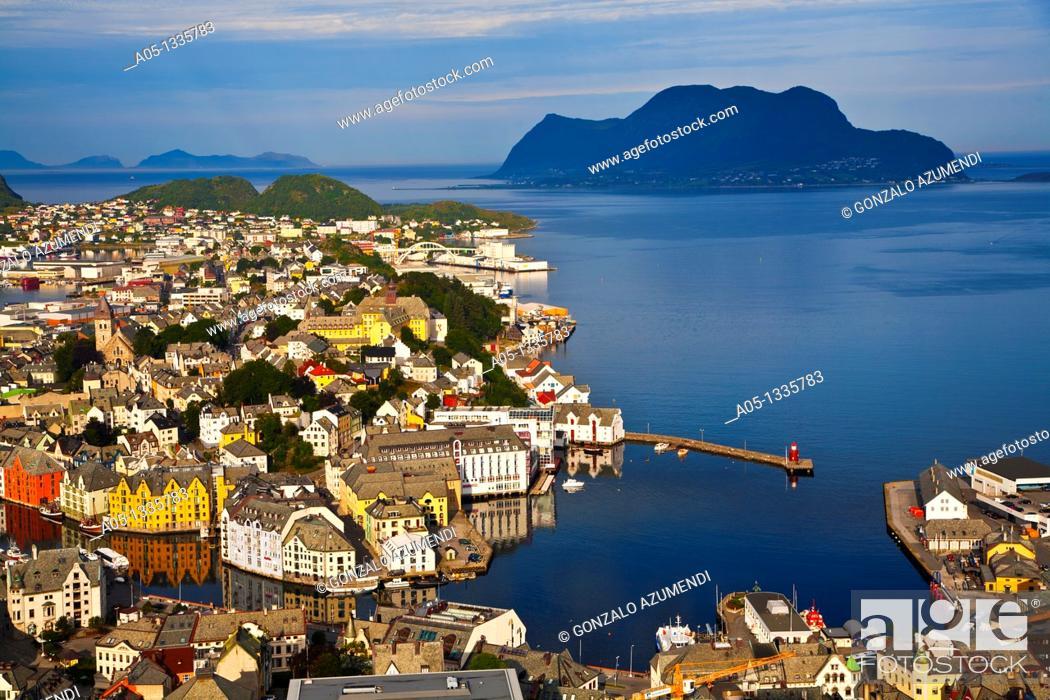 Stock Photo: Alesund More og Romsdal, Norwegian fjords, Norway.
