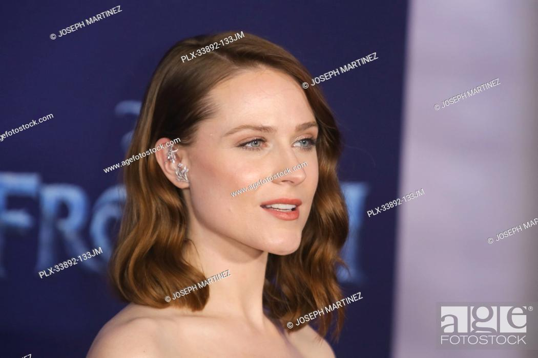 """Stock Photo: Evan Rachel Wood at Disney's """"""""Frozen II"""""""" World Premiere held at the Dolby Theatre in Hollywood, CA, November 7, 2019. Photo Credit: Joseph Martinez /."""