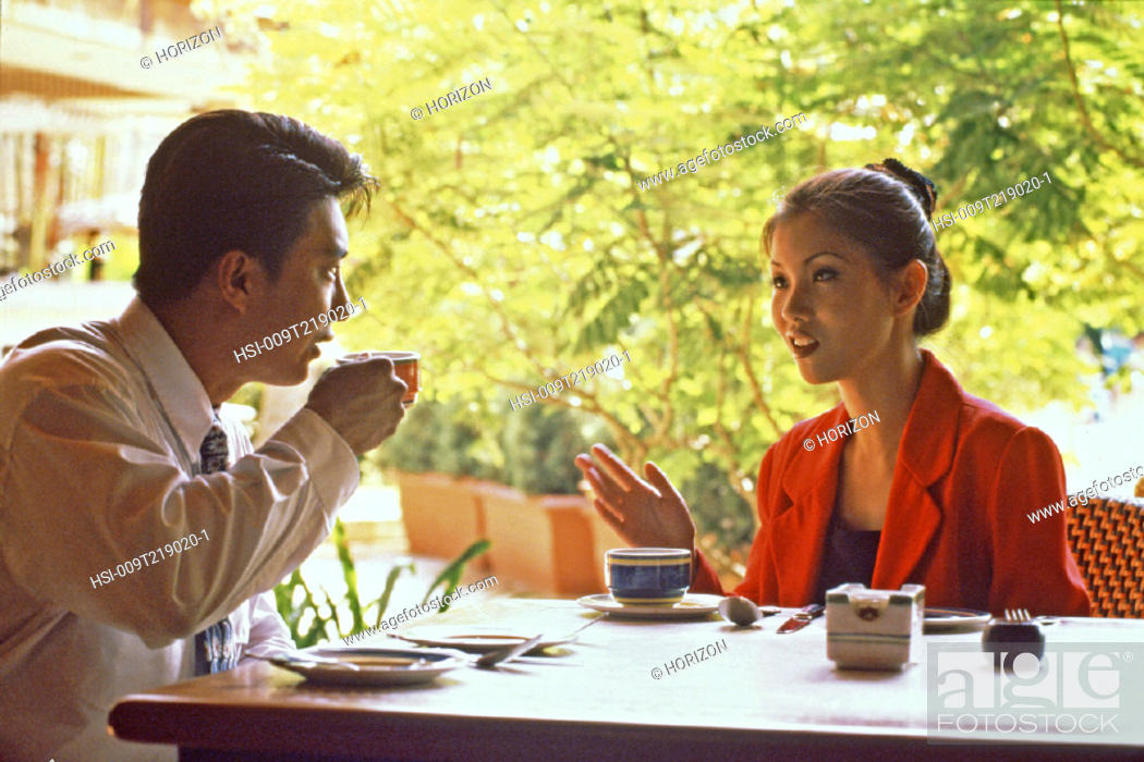 Stock Photo: Business & Profession, Executive, Restaurant, Couple.