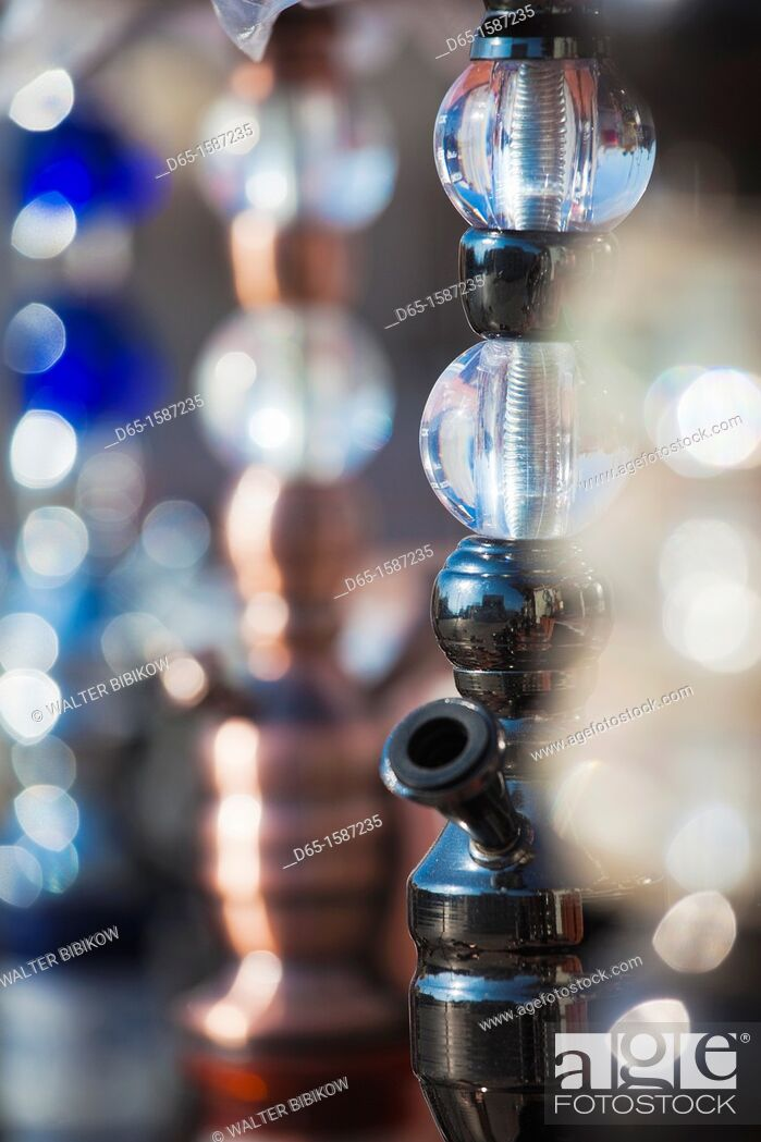 Stock Photo: Israel, The Negev, Eilat, Red Sea beachfront, sheesha water pipes.