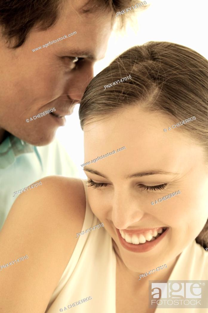 Stock Photo: Portrait of smiling couple.