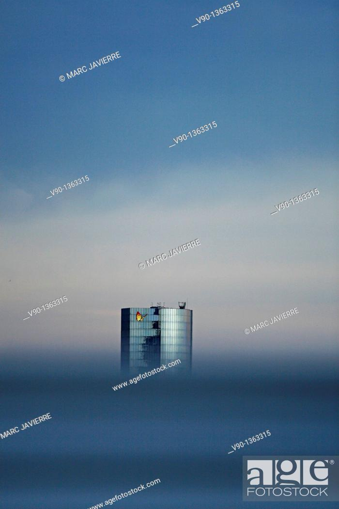 Stock Photo: Gas Natural building, Barcelona.
