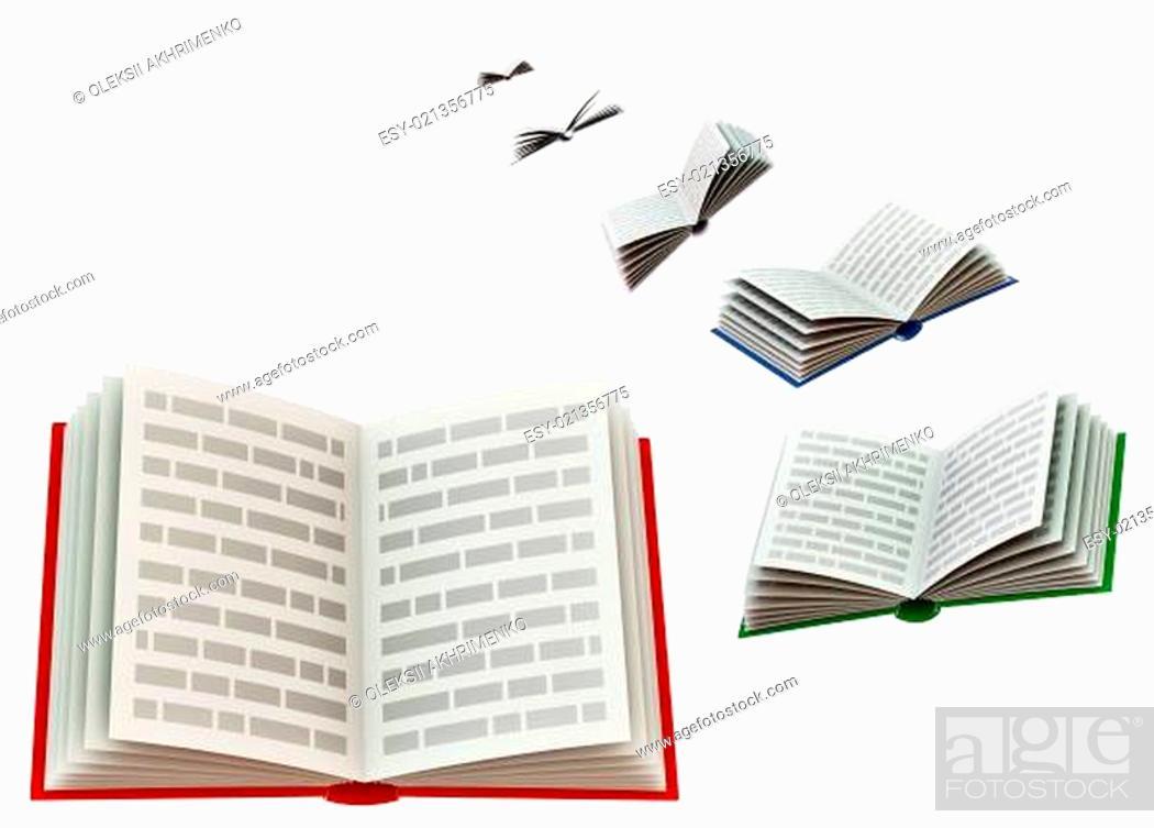 Stock Photo: set of books.