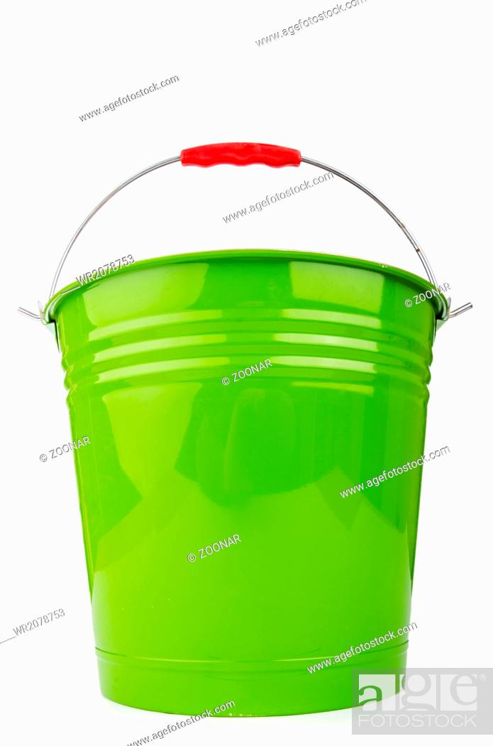 Stock Photo: Bucket isolted on the white background.