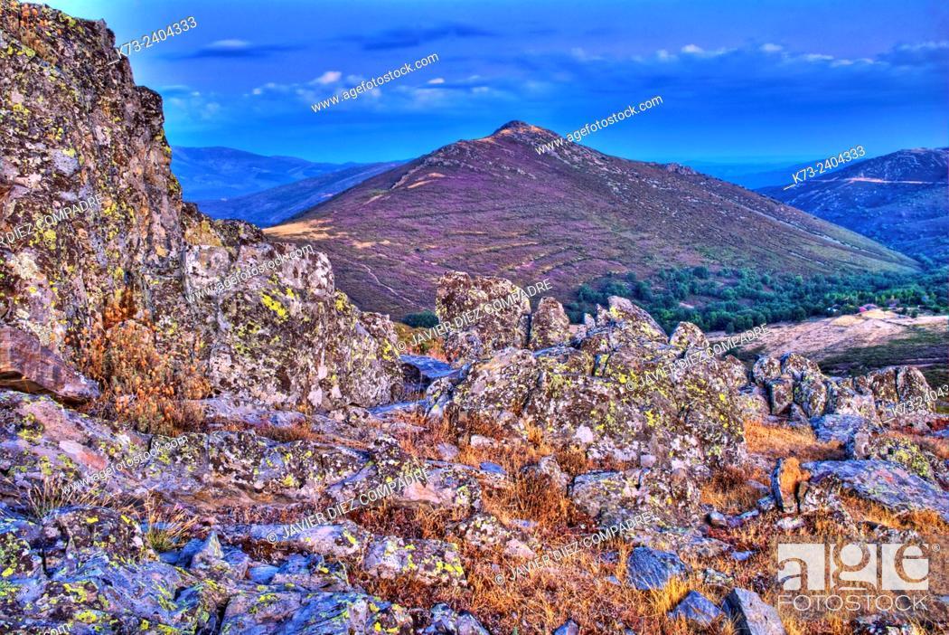 Photo de stock: Sierra Norte. Peñalba de la Sierra. Guadalajara Province. Castilla-La Mancha. Spain.