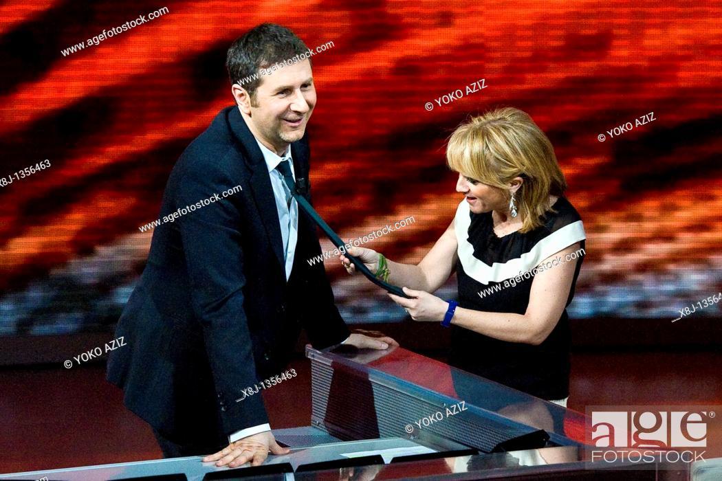 Imagen: 27 02 2011, Milan, 'Che tempo che fa' Telecast RAI3  Luciana Littizzetto and Fabio Fazio.