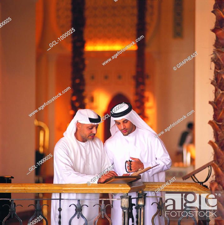 Stock Photo: Arab businessmen in a meeting.
