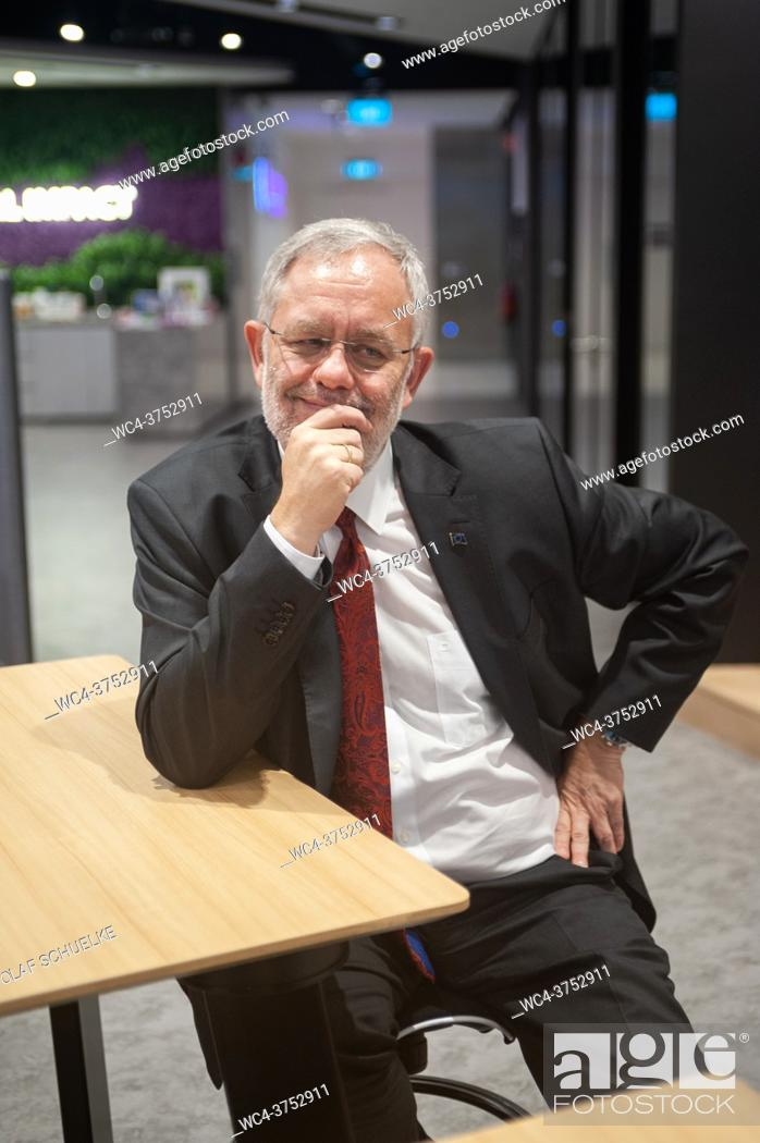 Stock Photo: Singapore, Republic of Singapore, Asia - Portrait of Peter Meinshausen, Regional President Evonik Asia Pacific South of the German chemical company Evonik.