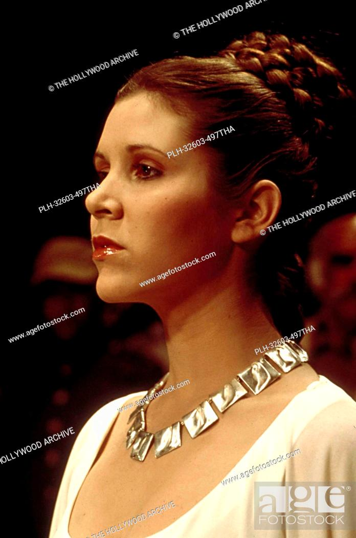 Stock Photo: Princess Leia (Carrie Fisher) in Star Wars: Episode VI: Return of the Jedi (1983).