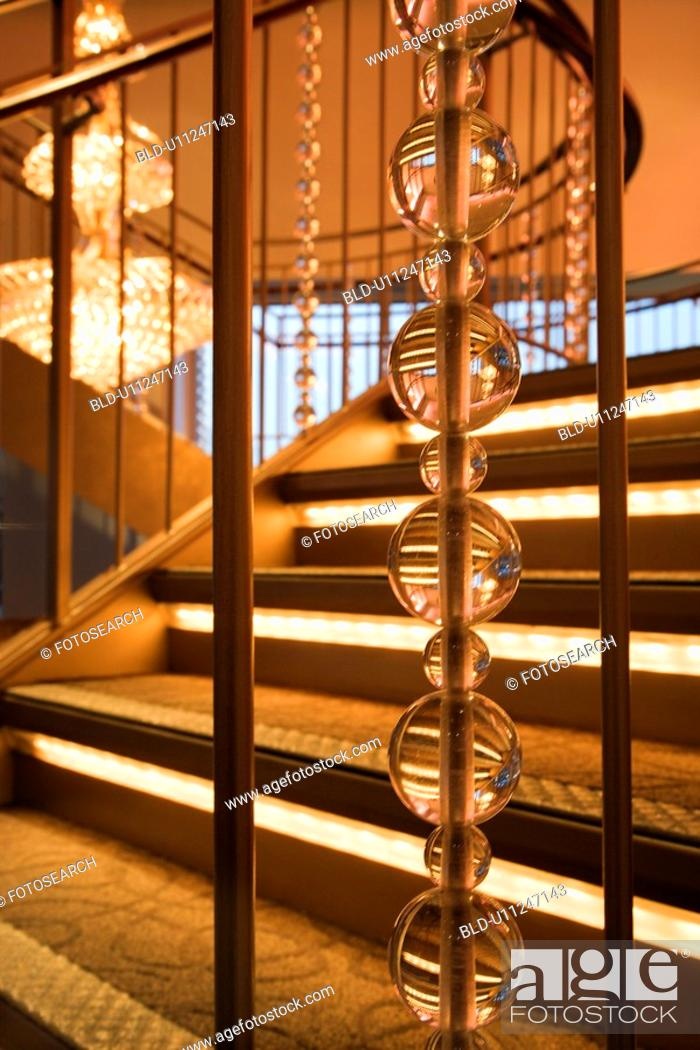 Stock Photo: Staircase in fancy building.