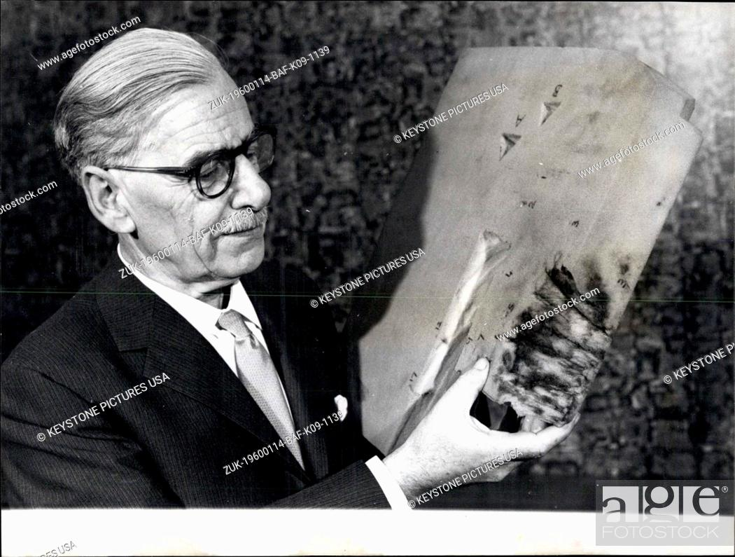 Stock Photo: 1967 - High Explosive Caused Air Crash: Evidence of an explosion of a high explosive (of a military or similar type - not an ordinary 'gelignite'0 was proved to.