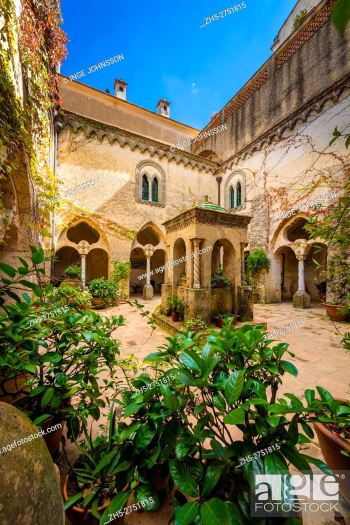 Stock Photo: Villa Cimbrone is a historic building in Ravello, on the Amalfi coast of southern Italy. Dating from at least the 11th century AD.