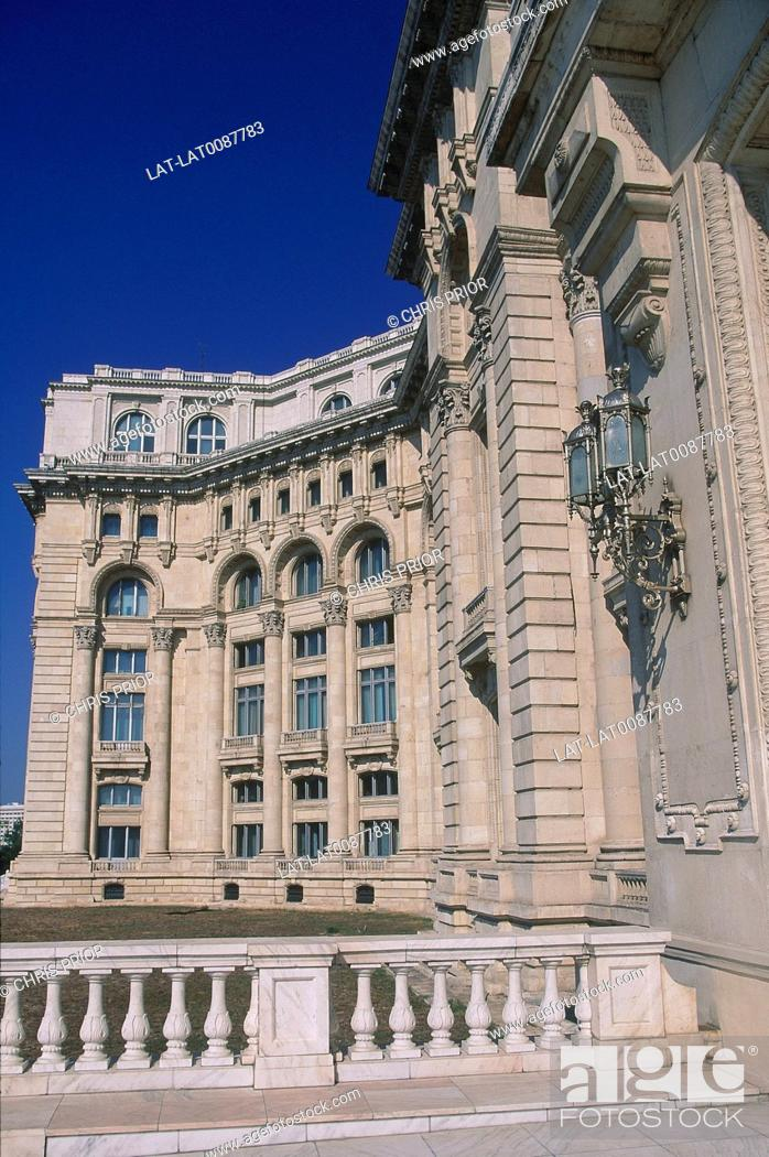Stock Photo Palace Of The People Built By Nicolae Ceausescu Never Used Ornate Building West Wing