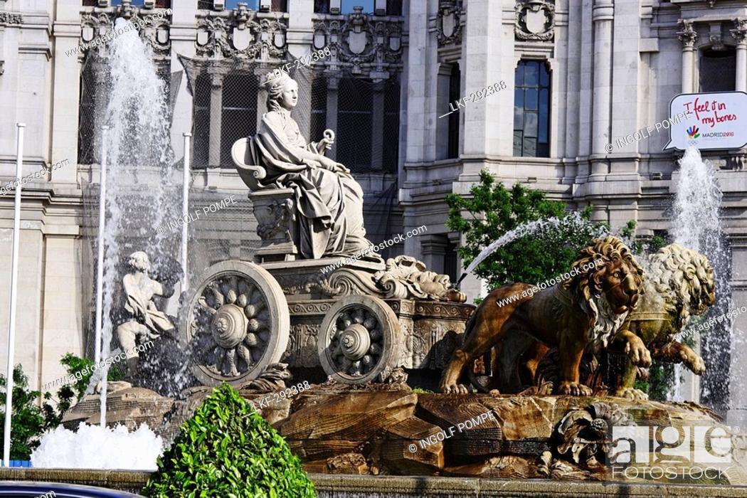 Fuente De Cibeles Near Town Hall Palacio De Comunicaciones