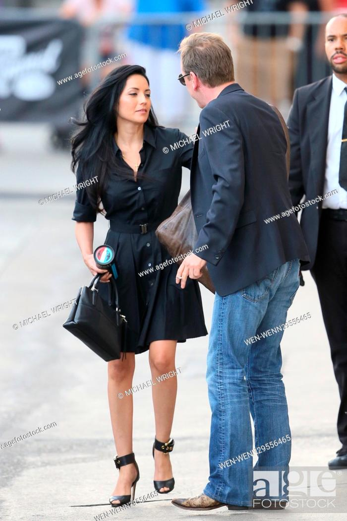 Stock Photo: Kiefer Sutherland seen leaving the ABC studios after Jimmy Kimmel Live Featuring: Kiefer Sutherland Where: Los Angeles, California.