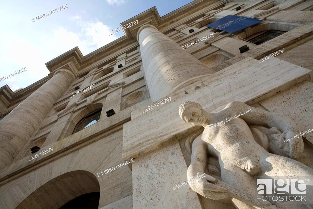 Stock Photo: Milano stock market building italy.
