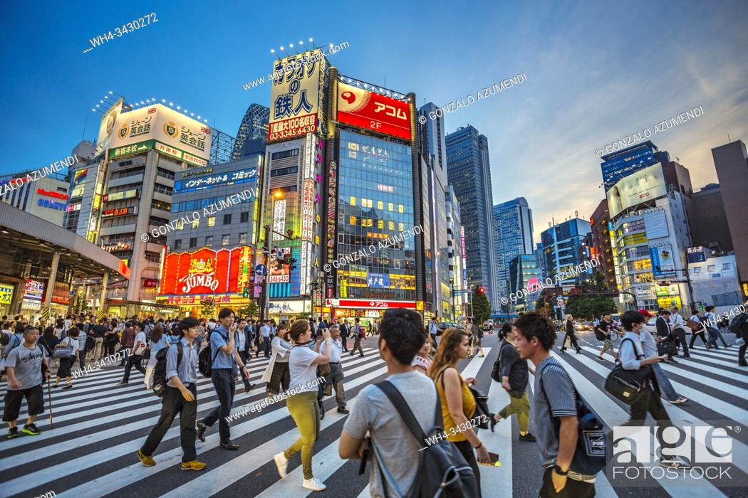Stock Photo: Kabukicho. Red-light district. Shinjuku district, Tokyo, Japan, Asia.