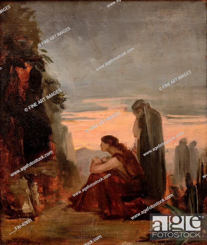 Stock Photo: The Myrrhbearers by Bashkirtseva, Maria Konstantinovna (1860-1884)/Oil on canvas/Russian Painting of 19th cen./1883/Russia/State A.