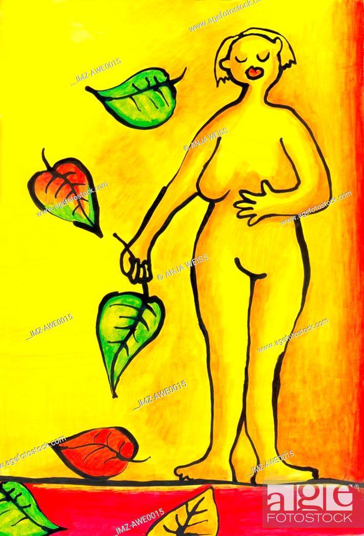 Stock Photo: A graphic representation of femininity.