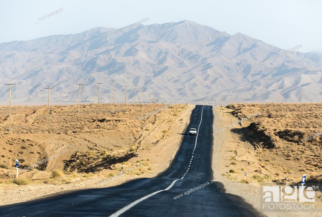 Stock Photo: Road in Isfahan Province in Iran.