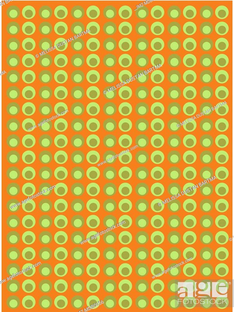 Stock Photo: Green circles on a brown background.