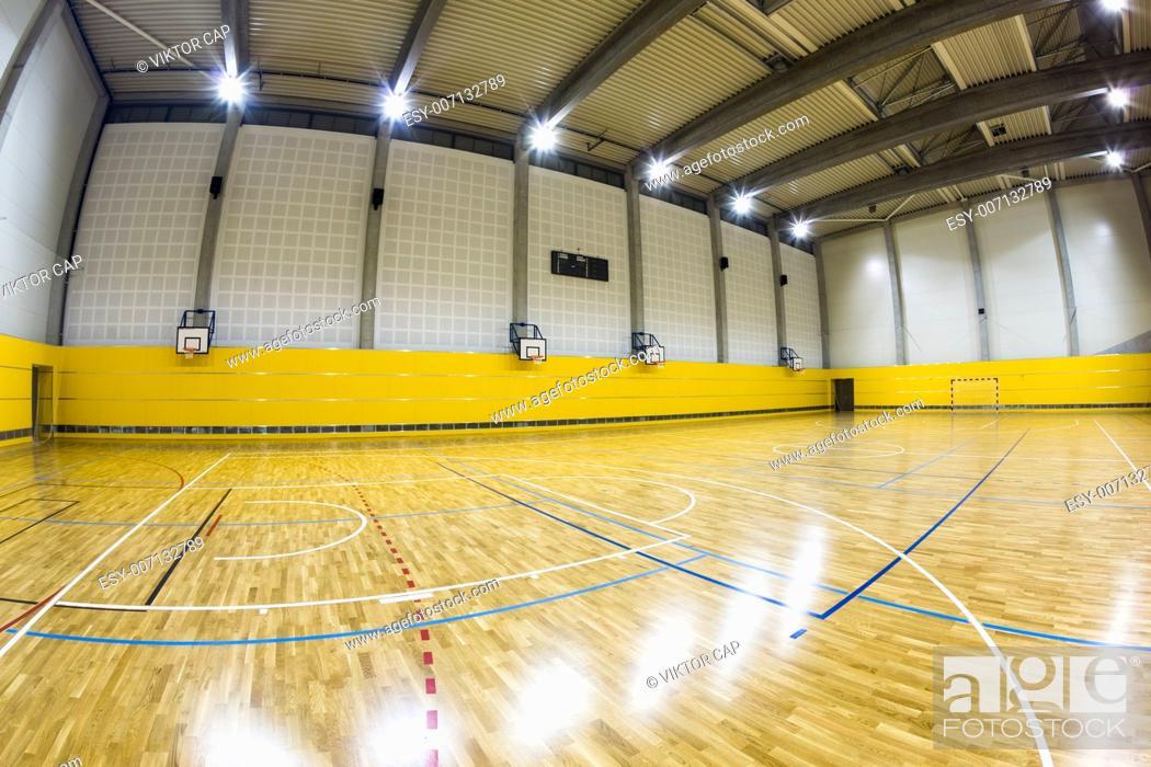 Stock Photo: interior of a modern multifunctional gymnasium.