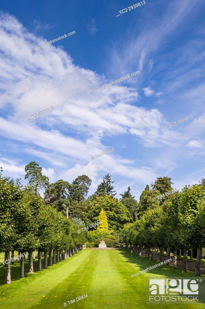 Stock Photo: The Gardens at Sandringham House at Sandringham Estate in Norfolk , England , Britain , Uk.